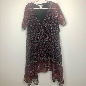 American Rag 1X dress Asymmetrical boho
